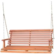 International Concepts Acacia Wood 2 Person Folding Swing, Oiled Finish