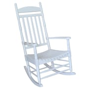 International Concepts Solid Wood Porch Rocker Chair, White