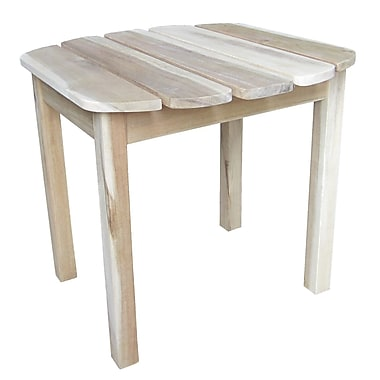 International Concepts Solid Wood Sidetable, Unfinished