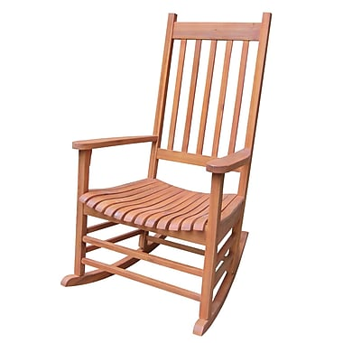 International Concepts Acacia Wood Rocker Chair, Olied