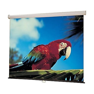 Draper® Luma Manual 94in. Wall and Ceiling Projector Screen, 16:10, Black Casing