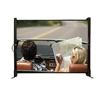 Draper® MicroScreen 50in. Tabletop Portable Projector Screen, 4:3, Sidewinder Black Casing