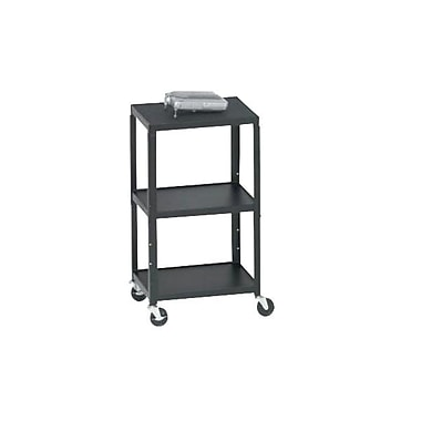 Bretford® A2642 Height Adjustable AV Cart For 13in. to 20in. TV, Overhead Projector, VCR, Black