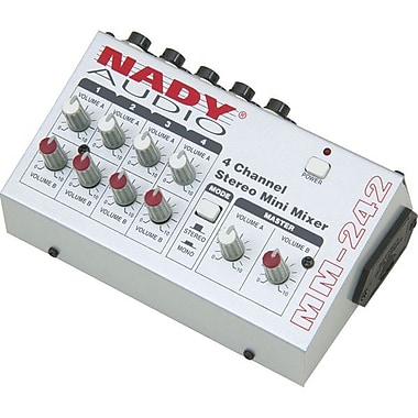 Nady® MM-242 4/8 Channel Stereo/Mono Mini Mixer
