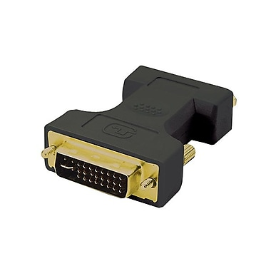 4XEM™ DVI-I Male to VGA Female Dual Link Adapter, Black