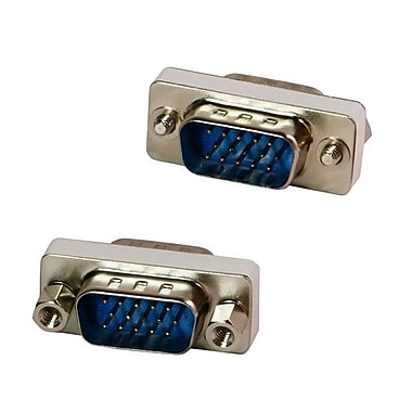 4XEM™ Male to Male VGA Adapter, Silver/Yellow