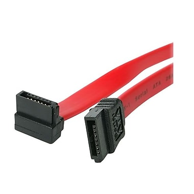 4XEM™ 12in. Standard to Right Angle SATA Female/Female Cable, Red