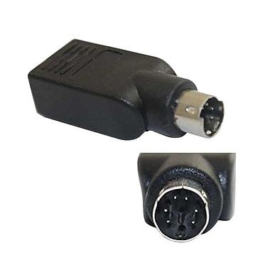 4XEM 4XUSBFPS2M Mini-DIN (PS/2) to USB Adapter, Black
