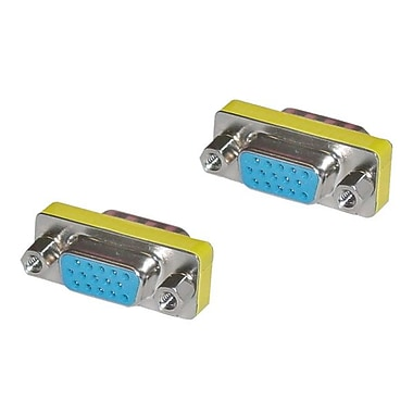 4XEM™ Female to Female VGA Adapter, Silver/Yellow