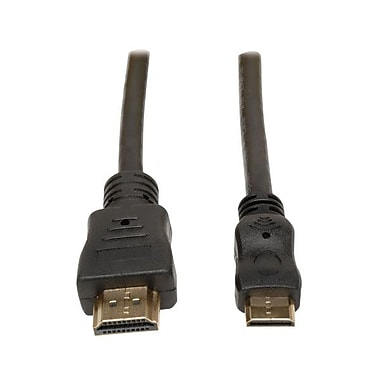 Tripp Lite 3' High Speed With Ethernet HDMI To Mini HDMI Cable, Black