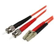 StarTech 32.8' LC/SC Multimode 50/125 Duplex Fiber Patch Cable, Orange (50FIBLCST10 )