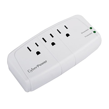 Cyberpower® Essential 3-Outlet 900 Joule Surge Suppressor