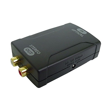 Calrad® Optical to Analog Stereo L/R Audio Signal Converter