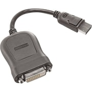 "Lenovo 45J7915-AOK 7.87"" Display Port to Single Link DVI-D Monitor Cable, Gray"