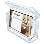 "Deflect-o Grab-A-Card Outdoor Business Card Holder, 2-3/4"" x 4-1/4"" x 1-1/2"", Clear"