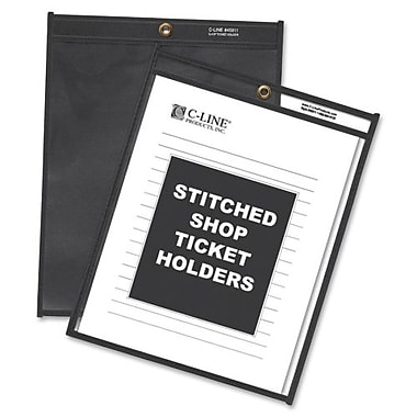 C-line Stitched Shop Ticket Holders with Pressboard Backing, 25/Pack