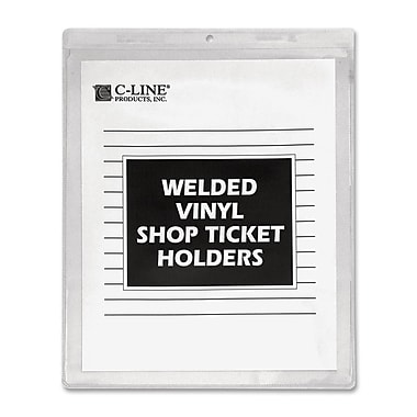C-line Vinyl Shop Seal Ticket Holders, 50/Pack