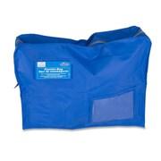 "Ro-el Tamper-Evident Gusset Style Courier Bag, 14"" x 18"" x 4"", Royal Blue"