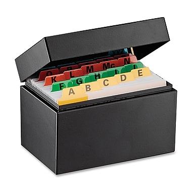 SteelMasterMD – Boîte pour fiches d'index, 3 x 5 po, noir