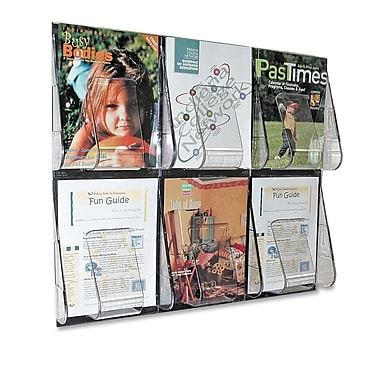 Deflect-o Wall Mount Literature Rack, 23-1/2