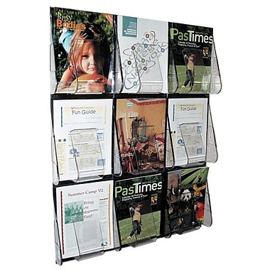 Deflect-o Wall Mount Literature Rack, 27-2/5