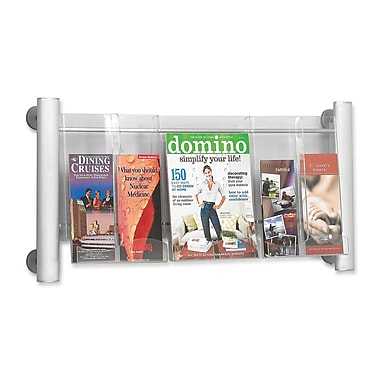 Safco Luxe 5-Compartment Literature Rack, 15-3/10