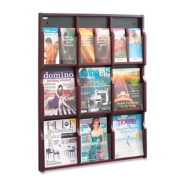 Safco Expose Customizable 9-18 Compartment Literature Rack, 38-3/10