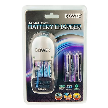 Bower® Xtreme Power Series 2AA/AAA Battery Charger