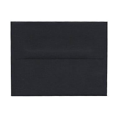 JAM Paper® A2 Invitation Envelopes, 4.38 x 5.75, Black Linen Recycled, 100/Pack (64345g)