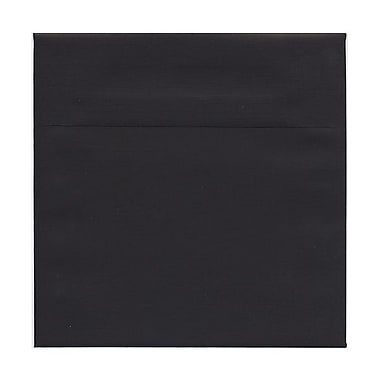 JAM Paper® 7.5 x 7.5 Square Envelopes, Black Linen Recycled, 100/Pack (v01213g)