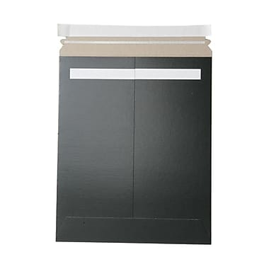 JAM Paper® 11in. x 13 1/2in. Kraft Paper Recycled Photo Mailers Envelopes With Peel and Seal Closure, Black