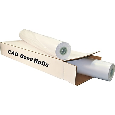 TST Impresso 20 lbs. Wide Format CAD Uncoated Bond Paper, 36in.(W) x 300'(L), 2/Roll