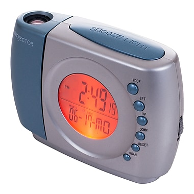 Northwest™ 72-MF814 Digital Projection Alarm Clock with FM Radio, Multi-Color
