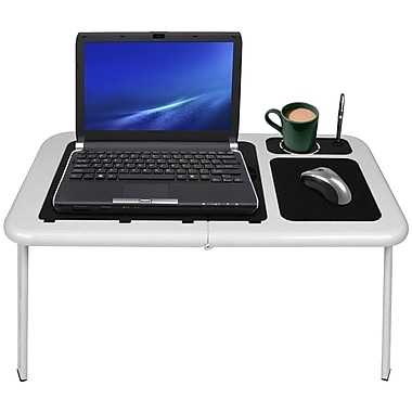 Northwest™ 75-LD09B Portable Workstation Table With Fan, White