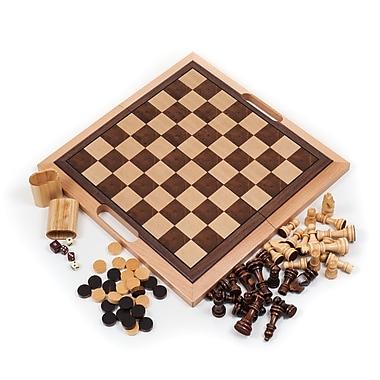 Trademark Games™ 3-in-1 Chess, Backgammon & Checker Set