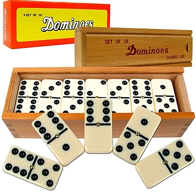 WWF Premium Set of 28 Double Six Dominoes Game 281421