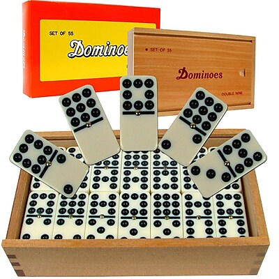 Premium Set of 55 Double Nine Dominoes Game 281422