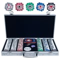 Trademark Poker™ 300 Chip High Roller Set With Aluminum Case, Brilliant Silver