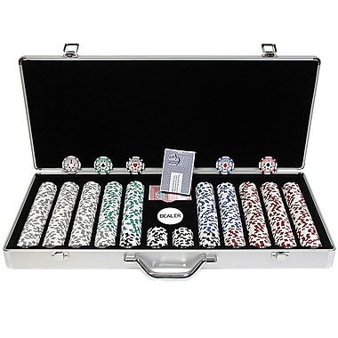 Trademark Poker™ 650 Chip High Roller Set With Executive Aluminum Case