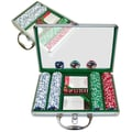 Trademark Poker™ 200 Jackpot Casino Poker Chips With Clear Cover Aluminum Case