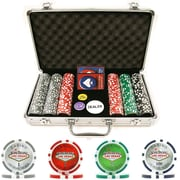Trademark Poker™ 300 Welcome to Las Vegas Chip Set With Aluminum Case, Brilliant Silver