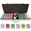 Trademark Poker™ 500 Welcome to Las Vegas Chip Set With Aluminum Case, Brilliant Silver