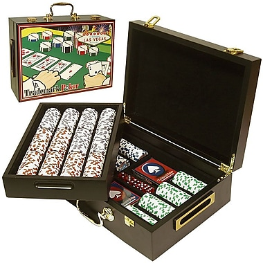 Trademark Poker™ 500 Four Aces Chips In Deluxe Case
