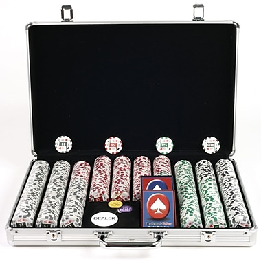 Trademark Poker™ 650 Four Aces Poker Chip Set With Executive Aluminum Case