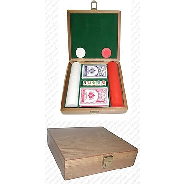 Trademark Poker™ 100 Poker Chip Gift Set, Oak