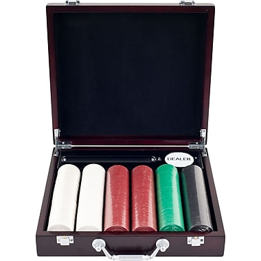 Trademark Poker™ 300 Super Diamond Poker Chips With Cigar Tray Chip Case