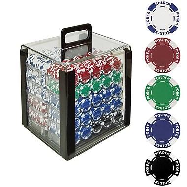 Trademark Poker™ 1000 Holdem Poker Chip Set With Acrylic Carrier