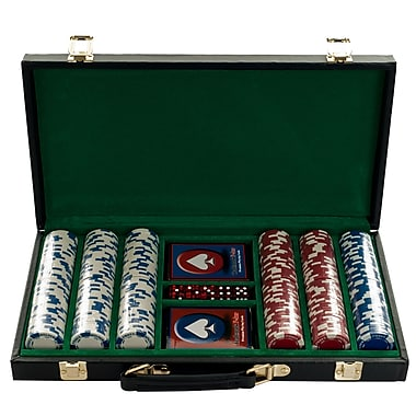 Trademark Poker™ 300 Holdem Poker Chip Set With Vinyl Case, Black