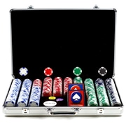 Trademark Poker™ 650 Holdem Poker Chip Set With Executive Aluminum Case, Brilliant Silver