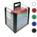 Trademark Poker™ 1000 Suited Design Poker Chips With Acrylic Carrier